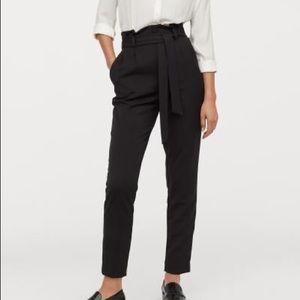 H&M high waist tie pants, NEVER WORN